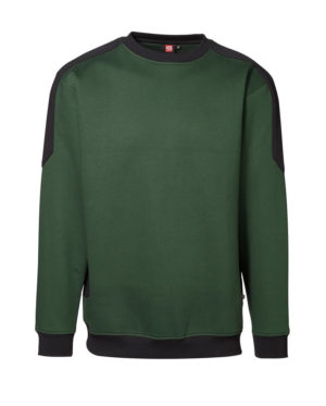 Sweatshirt ID Pro Wear Kontrast grün_schwarz Herren 1