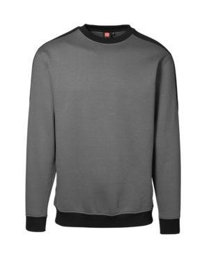 Sweatshirt ID Pro Wear Kontrast grau_schwarz Herren 1