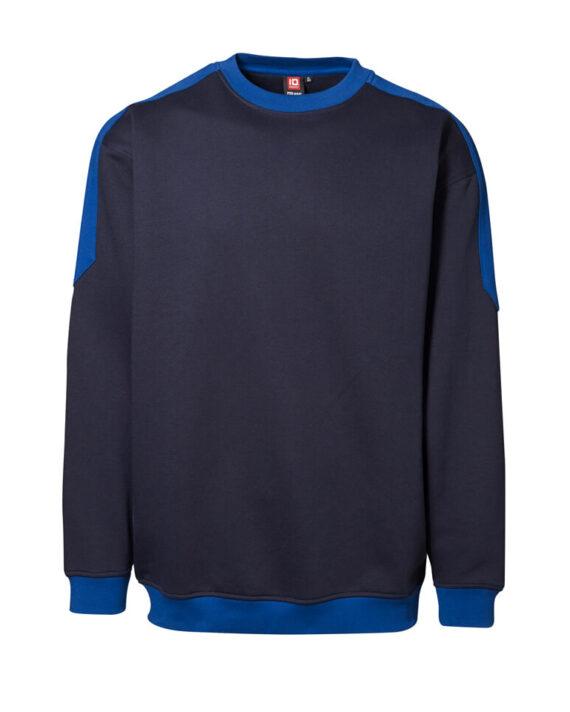 Sweatshirt ID Pro Wear Kontrast navy_royalblau Herren 1