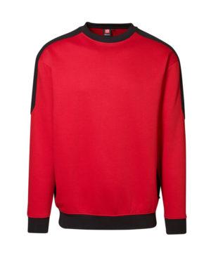 Sweatshirt ID Pro Wear Kontrast rot_schwarz Herren 1