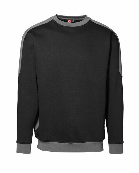 Sweatshirt ID Pro Wear Kontrast schwarz_grau Herren 1