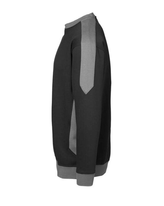 Sweatshirt ID Pro Wear Kontrast schwarz_grau Herren 2