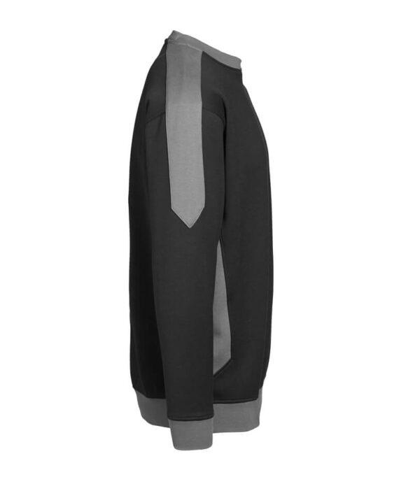 Sweatshirt ID Pro Wear Kontrast schwarz_grau Herren 4