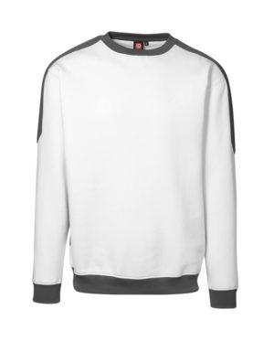 Sweatshirt ID Pro Wear Kontrast weiss_grau Herren 1