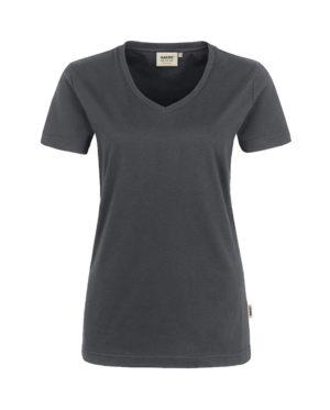 Arbeitskleidung T-Shirt Hakro Performance anthrazit für Damen Frontansicht
