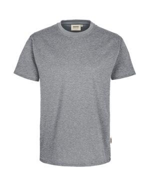 Arbeitskleidung T-Shirt Hakro Performance grau meliert für Herren Frontansicht