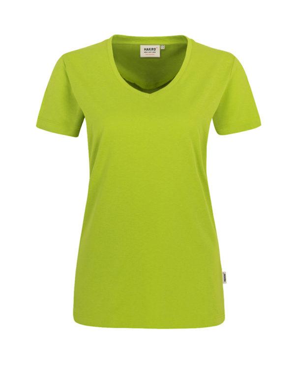 Arbeitskleidung T-Shirt Hakro Performance kiwi für Damen Frontansicht