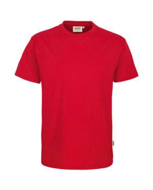 Arbeitskleidung T-Shirt Hakro Performance rot für Herren Frontansicht
