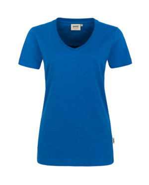 Arbeitskleidung T-Shirt Hakro Performance royalblau für Damen Frontansicht