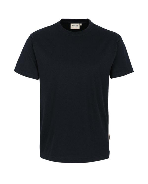 Arbeitskleidung T-Shirt Hakro Performance schwarz für Herren Frontansicht