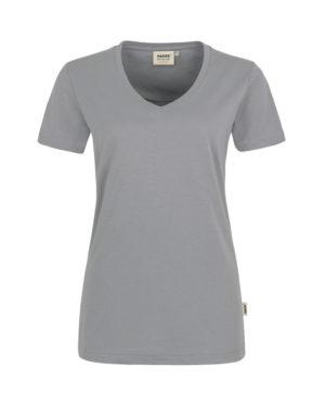 Arbeitskleidung T-Shirt Hakro Performance titan für Damen Frontansicht