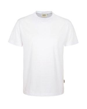 Arbeitskleidung T-Shirt Hakro Performance weiss für Herren Frontansicht