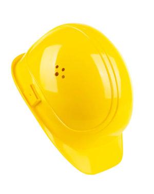 Schutzhelm gelb Seitenansicht