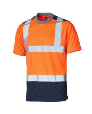 Warnschutz T-Shirt Dickies Hi Vis orange Herren