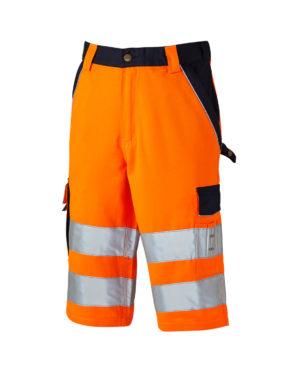 Warnschutzshorts Dickies Hi Vis orange Herren