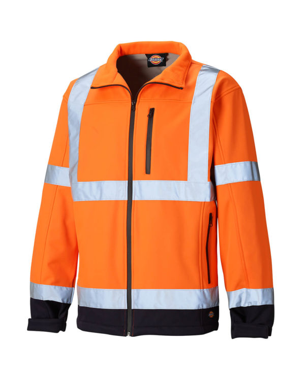 Warnschutzsoftshelljacke Dickies Hi Vis orange